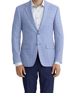 Dormeuil Calypso Sky Mini Check Jacket:Y6-4073649  Lining:L4-3752900  Trouser:C2-4184609  Shirt:N6-4071985