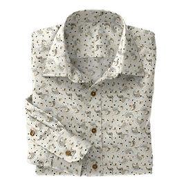 Tan Paisley Shirt:N5-4293131