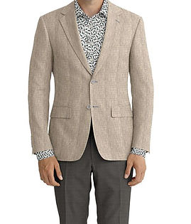 Grey Solid Linen Jacket:K4-3861642 Trouser:Z2-4186963  Shirt:N5-4293141