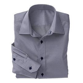 Navy Check Twill Shirt:S4-3541063