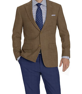 Tan Solid Jacket:K4-3874339 Trouser:C8-3644100  Shirt:N6-4072011