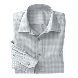 Norwich Sky Blue Twill Check Shirt:N3-3340117