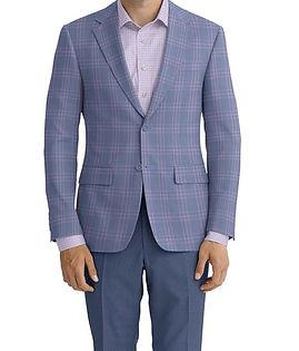 Lt Blue Violet Check Jacket:C6-4074229 Trouser:C6-3644063  Shirt:N6-4072038