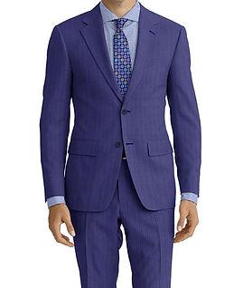 Dormeuil Amadeus Action Denim Thin Stripe Suit:Y4-4185232  Lining:L4-4072720