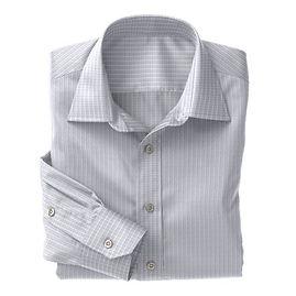 Navy Micro Check Shirt:N3-3340110