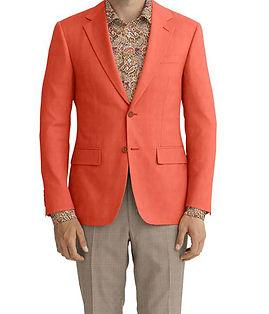 Salmon Solid Linen Jacket:K4-3861655  Trouser:C6-3644074  Shirt:N5-3857685