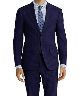 Marine Blue Pinstripe Suit:E3-4183673  Shirt:N3-3753226
