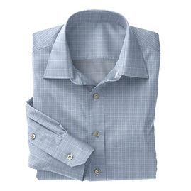 Soktas Lt Blue White Check Poplin Shirt:S2-3540907