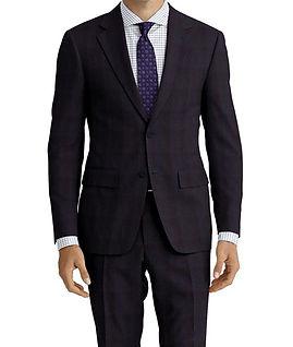 Char Blue Navy Check Suit:C9-4072379  Shirt:N7-4072119