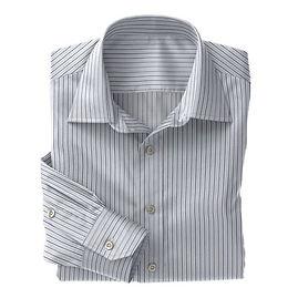 Blue Multi Stripe Shirt:N3-3340094