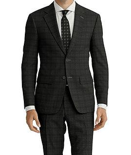 Dormeuil Travel Resistant Melange Ice Rust Check Suit:Y4-4185284  Lining:L4-4072745