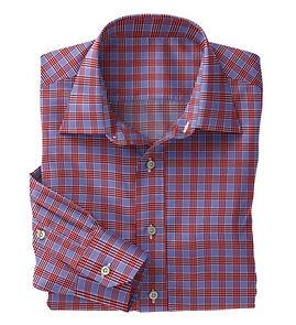 Blue Red Check Shirt:N5-4074729