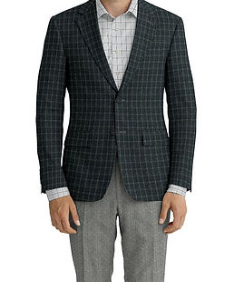 Grey Lt Grey Windowpane Jacket:Z3-3962266  Lining:L4-4072745  Trouser:Z3-3962238  Shirt:N6-3858603