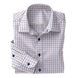 Pink/Navy Tattersall Check Shirt:N4-3753503