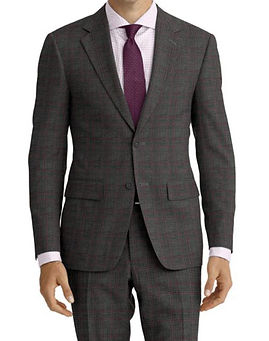 Grey Pink Check Suit:Z4-4071899  Shirt:N3-3858281