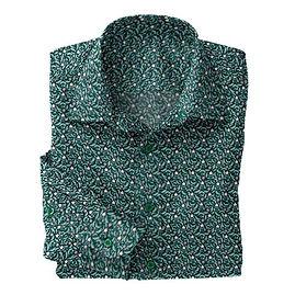 Green Antique Stretch Shirt:N7-4073155
