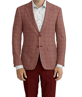 Maroon Pink Solid Linen Jacket:K4-3861648  Trouser:Z2-4186911  Shirt:N5-4293142