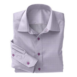 Violet Prince of Wales Check Shirt:N3-3340106