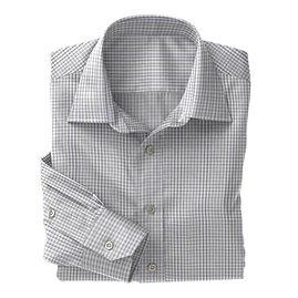 Blue Navy Check Poplin Shirt:S4-3541033