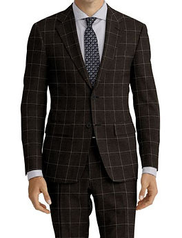 Charcoal Windowpane Suit:Z4-4071909   Shirt:N5-4071808