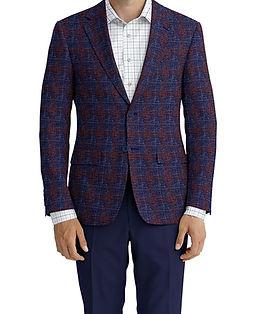 Dormeuil Dorsilk Blue Rouge Overcheck Jacket:Y6-4073668  Lining:L4-4072760 Trouser:K1-3336879  Shirt:N6-4071988