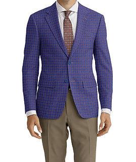 Blue Brown Check Jacket:K4-4073378 Trouser:Z2-4186900  Shirt:N3-3858282