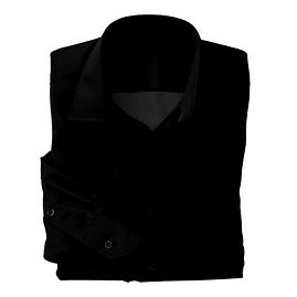 Black Twill Solid Shirt:N3-3340160
