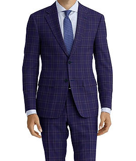 Dormeuil Amadeus Action Deep Navy Check Suit:Y4-4185216  Lining:L4-4072720  Shirt:N5-4071757