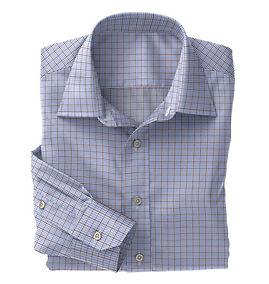 Brown Blue Graph Check Shirt:N5-4074735