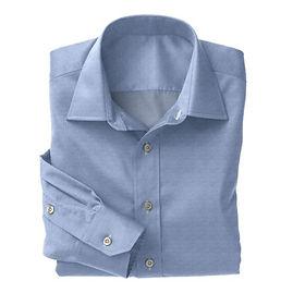 Blue Fine Twill Shirt:N8-3753381
