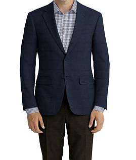 Navy Brown Plaid Jacket:Z4-3962223  Lining:L4-4072792  Trouser:Z3-3962248  Shirt:N6-4072011