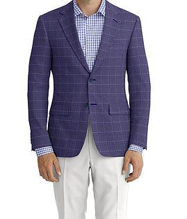 Dormeuil Echo Navy Blue Window Jacket:Y6-4073457  Lining:L4-4072768  Trouser:Y1-4293042  Shirt:N6-4072025