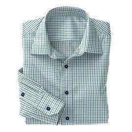 Green/Navy Tattersall Check Shirt:N4-3753505