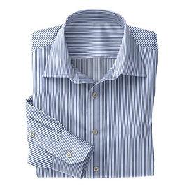 Blue Classic Stripe Shirt:N3-3340115