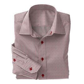 Soktas Red Navy Check Twill Shirt:S2-3540928