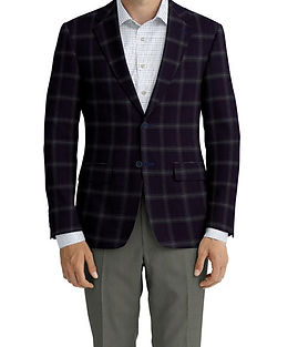 Dormeuil Echo Midnight Forest Check Jacket:Y6-4073468  Lining:L4-4072797  Trouser:K1-3336839  Shirt:N6-4071977