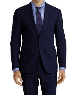 Navy Sharkskin Suit:Z4-4071947  Shirt:N7-4072135