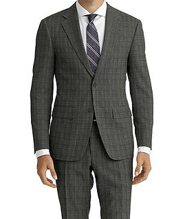 Dormeuil Travel Resistant Ice Check Charcoal Suit:Y4-4185293  Lining:L4-4072745