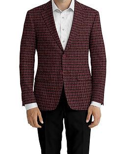 Dormeuil Dorsilk Red Rouge Rose Char Check Jacket:Y4-4185202  Lining:L4-4072775  Trouser:Z1-3336910  Shirt:N3-3858267