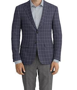 Dormeuil Echo Charcoal Window Overcheck Sportcoat:Y6-4073445  Lining:L2-3540491  Trouser:Z1-3336882  Shirt:N3-3753498