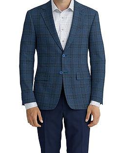 Blue Navy Plaid Jacket:K4-4393597  Lining:L4-4072756  Trouser:C3-4394928  Shirt:N6-4071977