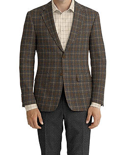 Lt Grey Taupe Plaid Jacket:Z3-3962088  Lining:L4-4072743  Trouser:Z3-3962103  Shirt:N6-3858605