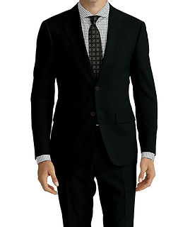Black Self Check Suit:E3-4183688  Shirt:N7-4072123