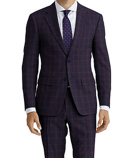 Navy Wine Check Suit:C9-4072376  Shirt:N6-4071977