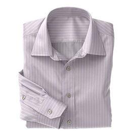 Violet White Stripe Shirt:N3-3340089