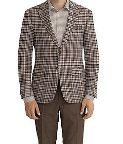 Dormeuil Dorsilk Natural Multi Check Sportcoat:Y6-4073691  Lining:L4-4072782  Trouser:E1-3642475  Shirt:N7-4072103