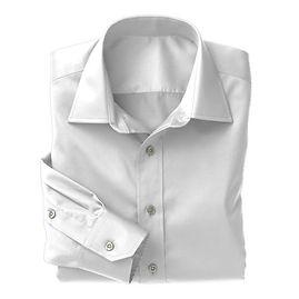 White on White Stripe Shirt:N3-3340127