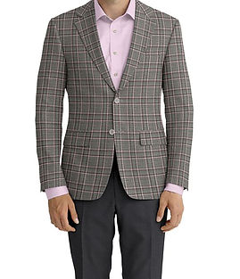 Dormeuil Echo Ice Rose Twin Check Jacket:Y6-4073463  Lining:L4-4072806  Trouser:E1-3642472  Shirt:N5-4071780