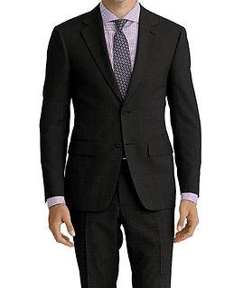 Dormeuil Travel Resistant Melange Grey Purple Check Suit:Y4-4185294  Lining:L2-4073145