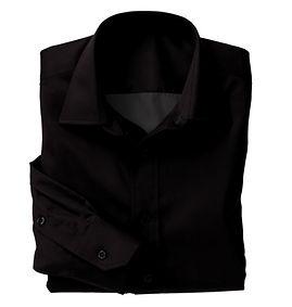 Black Solid Poplin Shirt:N5-4074748